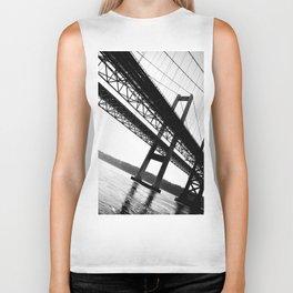 a bridge over troubled waters Biker Tank