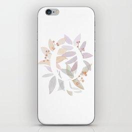 Monogram Q - Colorful Leaves - Rustic Design iPhone Skin