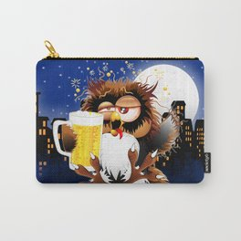 Drunk Owl with Beer Funny Character Carry-All Pouch