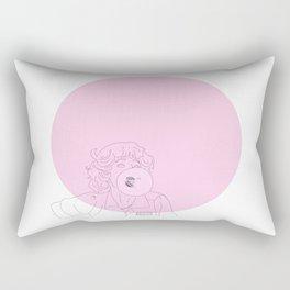 Frenchy Bubblegum Rectangular Pillow
