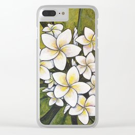 Tropical Calm Clear iPhone Case