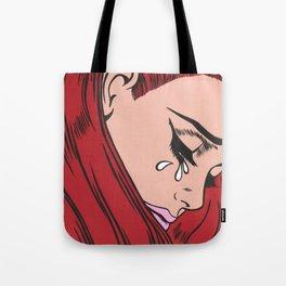 Red Hair Sad Girl Tote Bag