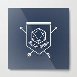 Roleplayer's Crest Metal Print