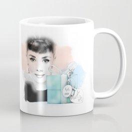 Audrey Hepburn Illustration Breakfast at Tiffany Coffee Mug