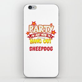 Sheepdog Party iPhone Skin