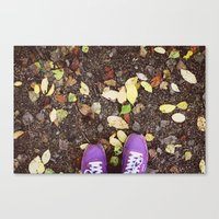 sneakers Canvas Prints featuring Sneakers by Abramskama