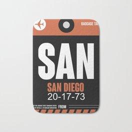 SAN San Diego Luggage Tag 3 Bath Mat