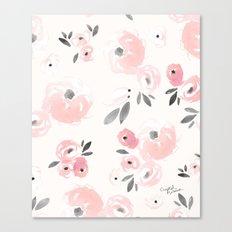 Sweet Blush Blooms Canvas Print