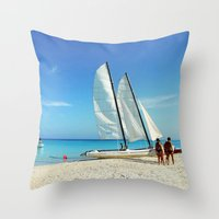 cuba Throw Pillows featuring Cuba Beach by Parrish