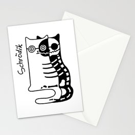 Schrodingers Cat – Quantum paradox Stationery Cards