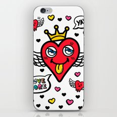 Heart is my King iPhone & iPod Skin