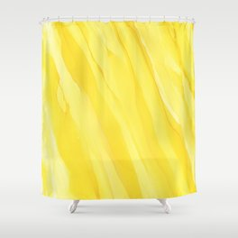 #030 - Monochrome Ink in Yellow Shower Curtain