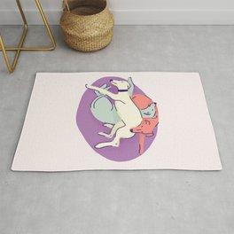 3 Italian Greyhounds Sleeping on a Lilac Pillow - Iggy Doggies Resting Rug