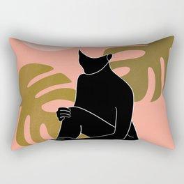 black nude 2 Rectangular Pillow