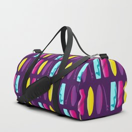 Surf's Up Multicoloured Surfboard Pattern Duffle Bag