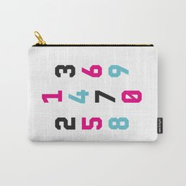 Typography Numbers #1 Carry-All Pouch