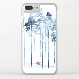 Sleeping in the woods Clear iPhone Case