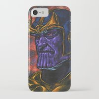 thanos iPhone & iPod Cases featuring Marvel Thanos Infinity Gauntlet by Adam Worley