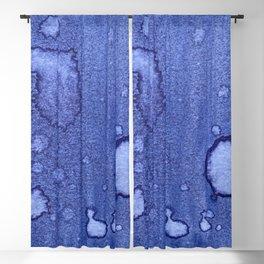 Rich Royal Purple Splotchy Watercolor Blackout Curtain