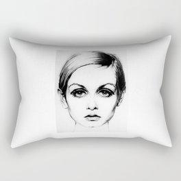 60's Eyelashes Rectangular Pillow