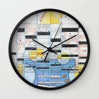 guitar Wall Clocks featuring Guitar by Nimai VandenBos