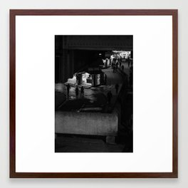 Silhouettes Of Southbank. Framed Art Print