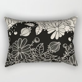 FLOWERS EBONY AND IVORY Rectangular Pillow