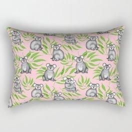 Koala Pattern Charitable Art (Pink Background) Rectangular Pillow