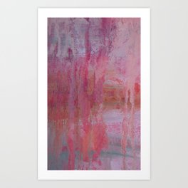 abstract river through the forest Art Print