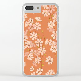 Sunset. Cherry Blossom. Clear iPhone Case