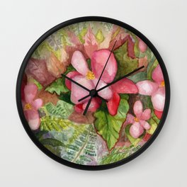 Begonia Beauty Wall Clock