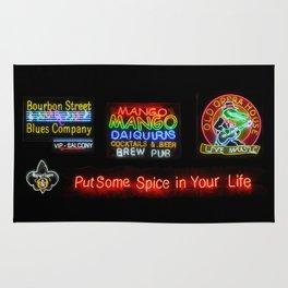 Bourbon Street Neon Signs Rug