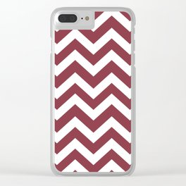 Solid pink - violet color - Zigzag Chevron Pattern Clear iPhone Case