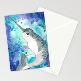 Baby narwhal Stationery Cards