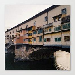 Bridge over the River Arno Canvas Print