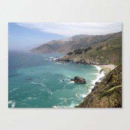 Big Sur Cali waters Canvas Print