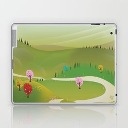Cartoon hilly landscape Laptop & iPad Skin