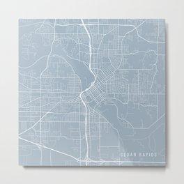 Cedar Rapids Map, USA - Slate Metal Print