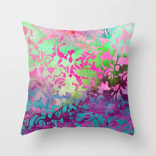 Earth_Watercolor by Jacqueline & Garima Throw Pillow