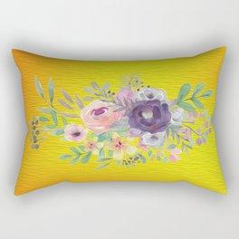 Flowers Gradient Rectangular Pillow