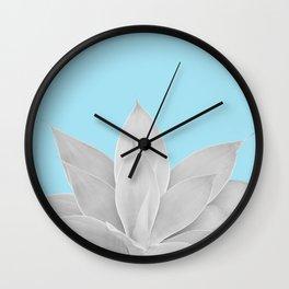 Light Blue Agave #2 #tropical #decor #art #society6 Wall Clock
