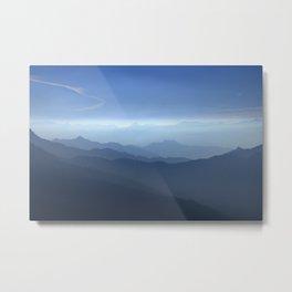 Blue dreams II. Misty mountains Metal Print