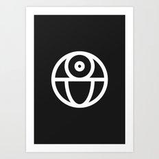 Death Star Art Print