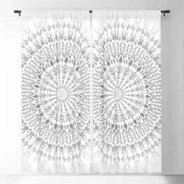 Light Grey White Mandala Blackout Curtain