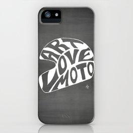 Art Love Moto Helmet iPhone Case