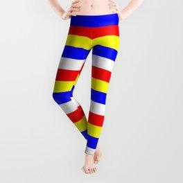 Cape Verde flag stripes Leggings