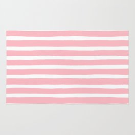Stripes, Pink, Minimal, Scandinavian, Abstract, Pattern, Modern art Rug
