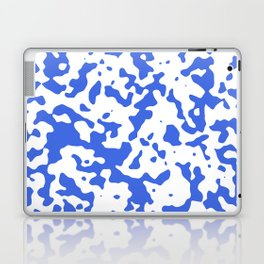 Spots - White and Royal Blue Laptop & iPad Skin