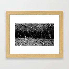 Something was Here Framed Art Print