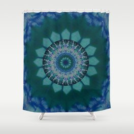 Coloured Gravel in Teal Shower Curtain